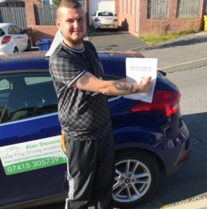 Tom Ford passed his driving test with Alan at Leap Frog Driving Academy